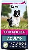 Eukanuba Alimento seco para perros adultos de razas pequeñas y medianas, rico en cordero y arroz,...
