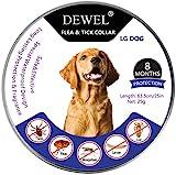 Dewel Collar Antiparasitos Perros/Gatos Contra Pulgas,Garrapatas y Mosquitos,Tamaño Ajustable e...